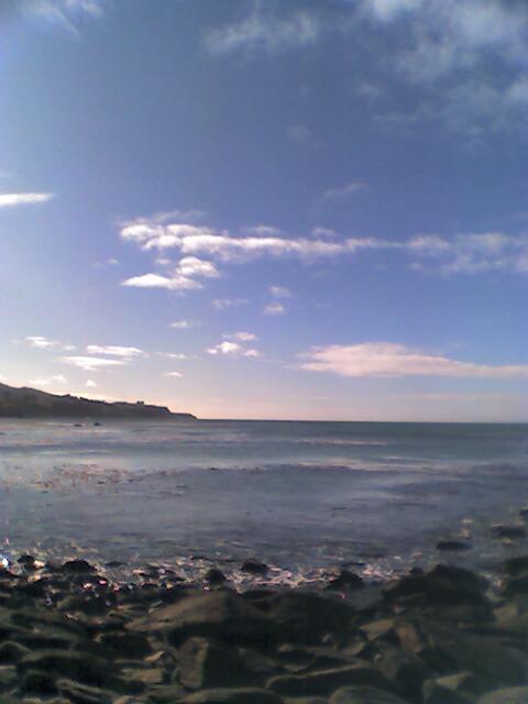 Warrington Beach, Otago, New Zealand, looking north, 22 July 2007