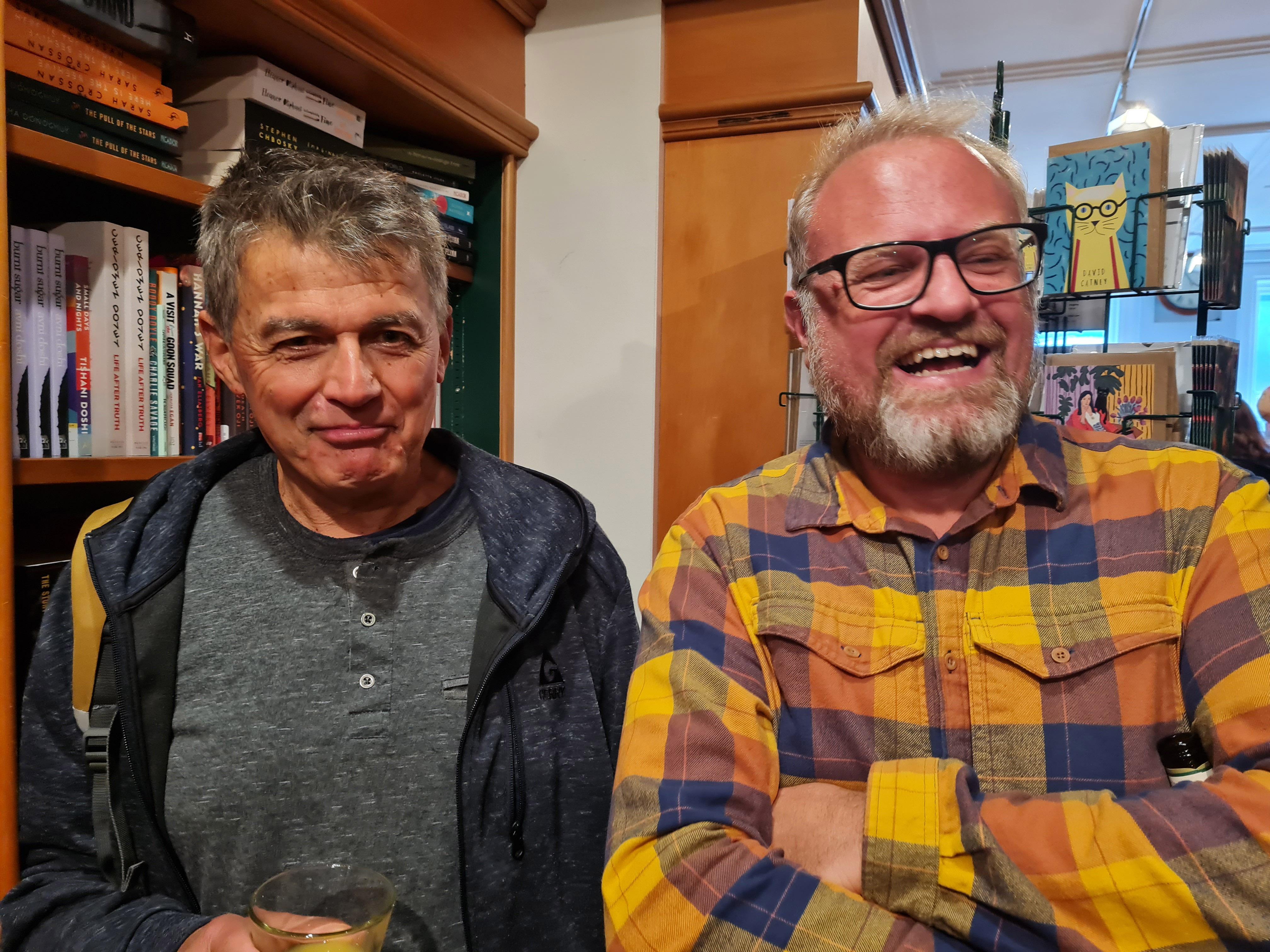 New Zealand poet laureate David Eggleton and some guy
